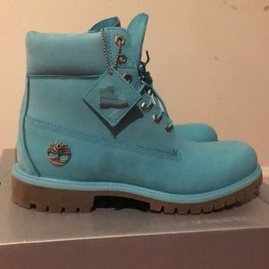 Limited edition baby blue timberlands